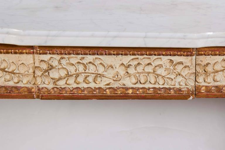 Italian Parcel-Gilt and White Painted Console Table 4