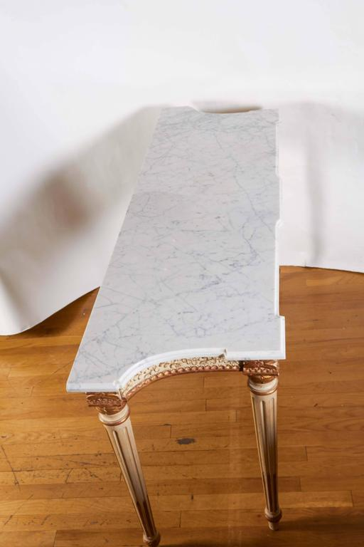 Italian Parcel-Gilt and White Painted Console Table 8