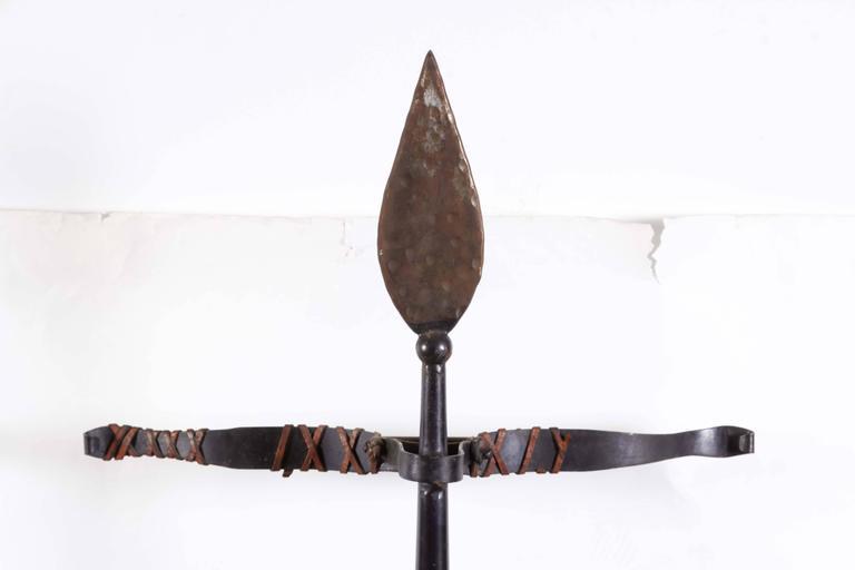 Renaissance Revival Tole Peinte Armor Plate on Stand 2