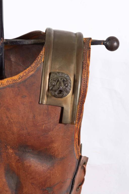 Renaissance Revival Tole Peinte Armor Plate on Stand 3