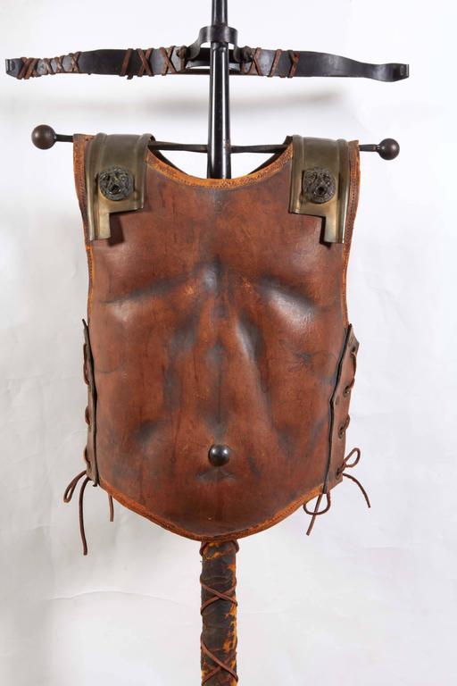 Renaissance Revival Tole Peinte Armor Plate on Stand 5