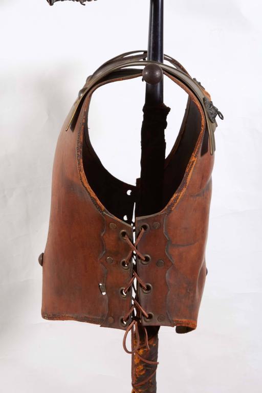 Renaissance Revival Tole Peinte Armor Plate on Stand 6
