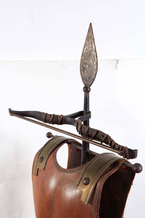 Renaissance Revival Tole Peinte Armor Plate on Stand 7