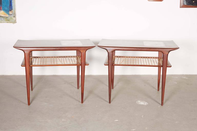 Mid Century Side Table by Johannes Andersen, Pair 2