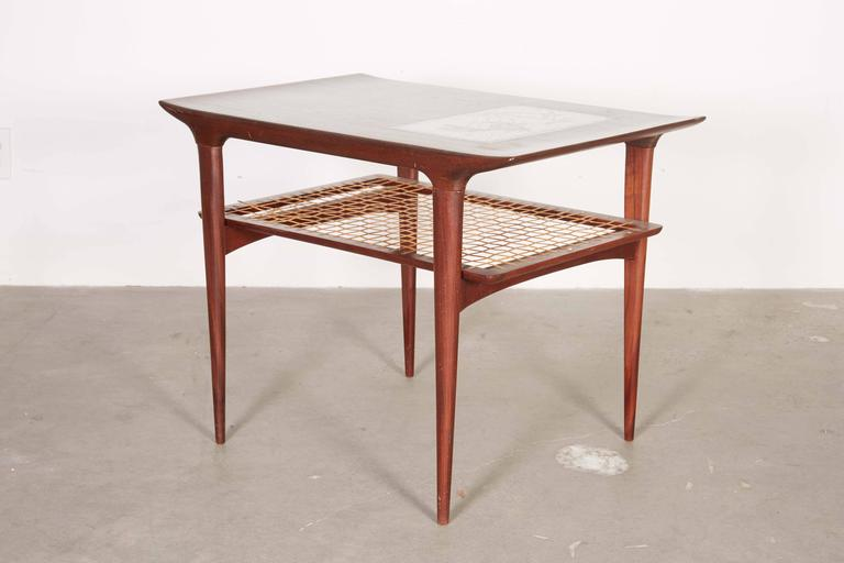 Mid Century Side Table by Johannes Andersen, Pair 3