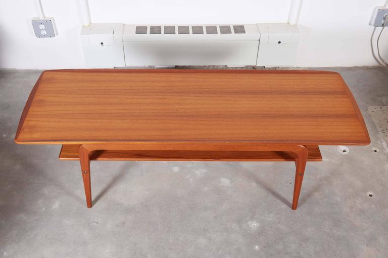 Danish Coffee Table with Shelf 4
