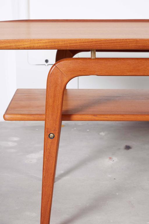 Danish Coffee Table with Shelf 5