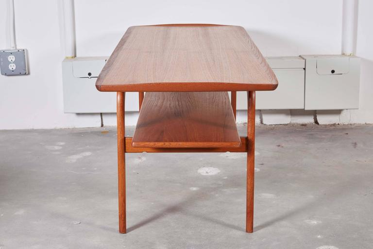 Danish Coffee Table with Shelf 6