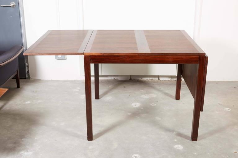 Rosewood Drop Leaf Dining Table by Kai Winding 4