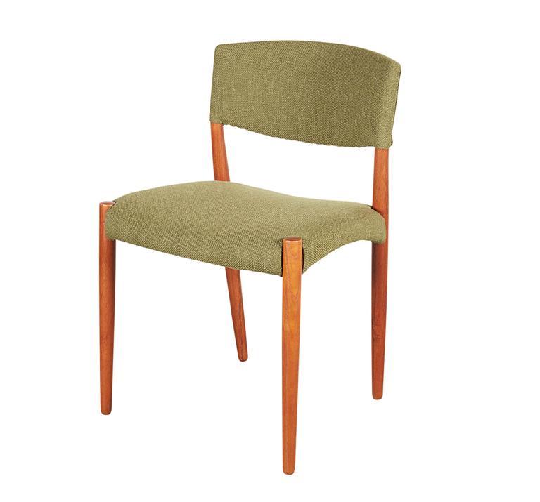 Teak Green Dining Chairs by Bender Madsen, Set of 4 2
