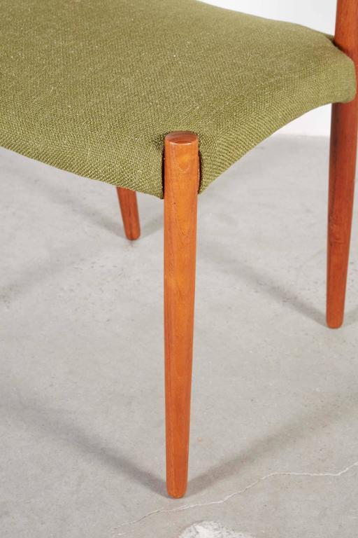 Teak Green Dining Chairs by Bender Madsen, Set of 4 3
