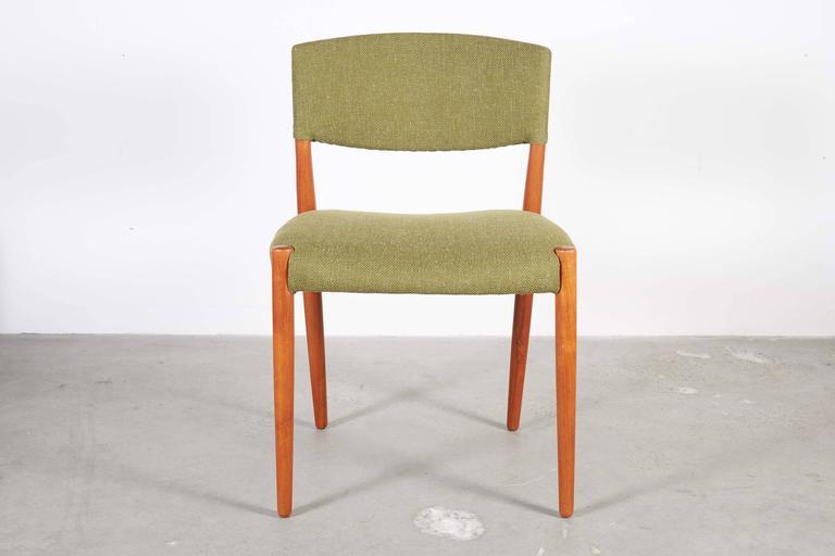 Teak Green Dining Chairs by Bender Madsen, Set of 4 4