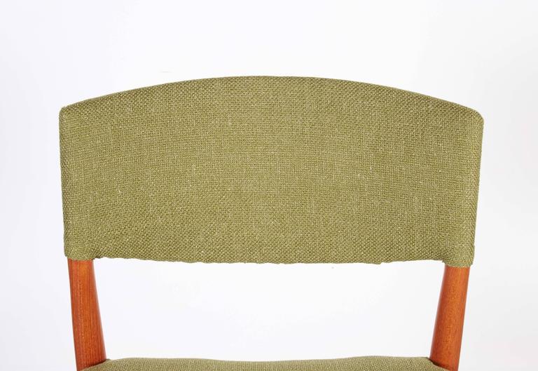 Teak Green Dining Chairs by Bender Madsen, Set of 4 5