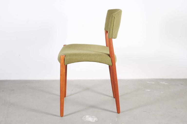 Teak Green Dining Chairs by Bender Madsen, Set of 4 6