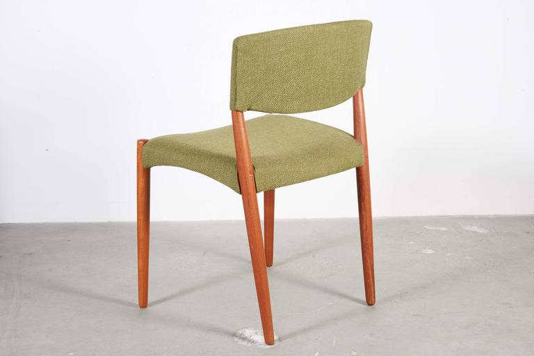 Teak Green Dining Chairs by Bender Madsen, Set of 4 7
