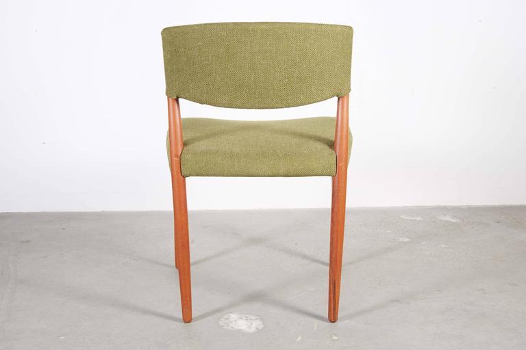 Teak Green Dining Chairs by Bender Madsen, Set of 4 8