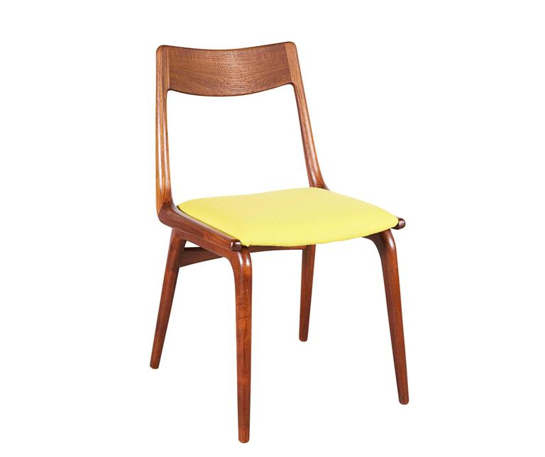 Teak Dining Chairs by Erik Christiansen (Set of 6), Yellow 2
