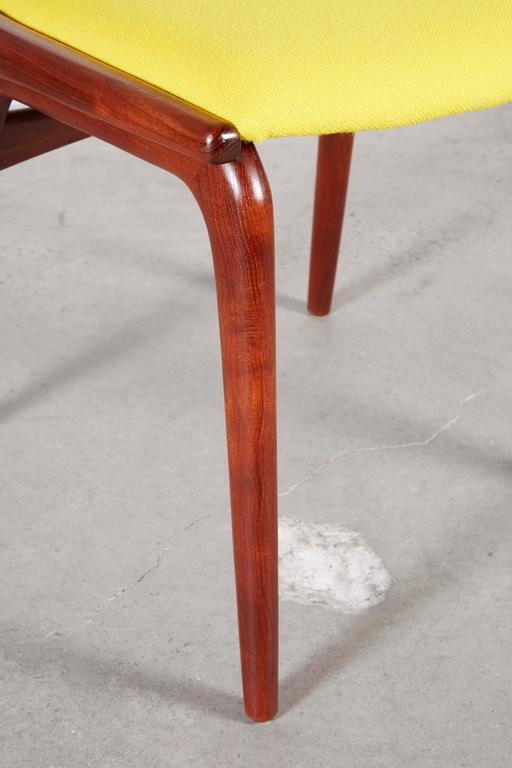 Teak Dining Chairs by Erik Christiansen (Set of 6), Yellow 3