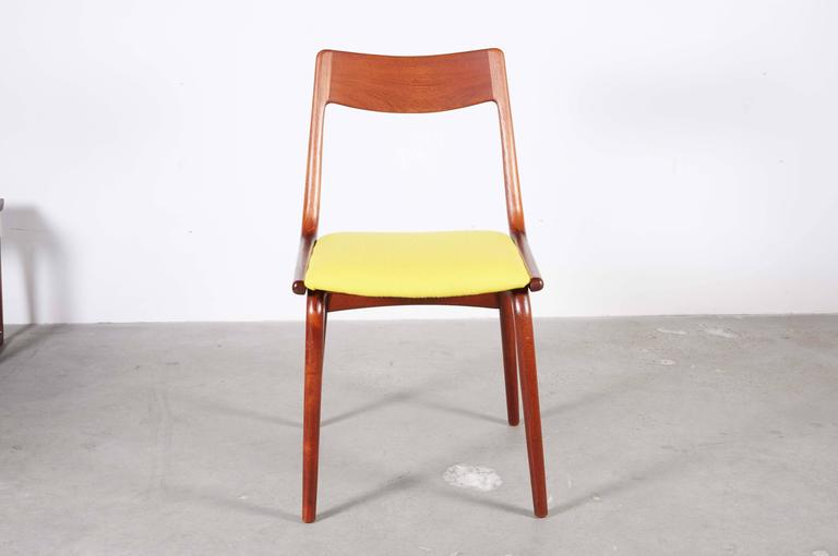 Teak Dining Chairs by Erik Christiansen (Set of 6), Yellow 4