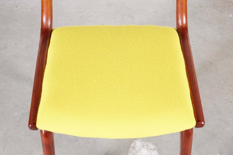 Teak Dining Chairs by Erik Christiansen (Set of 6), Yellow 5