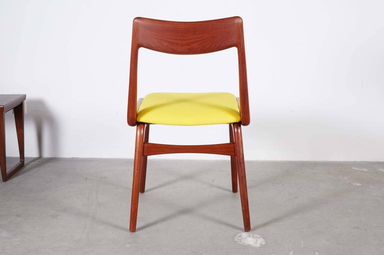 Teak Dining Chairs by Erik Christiansen (Set of 6), Yellow 9