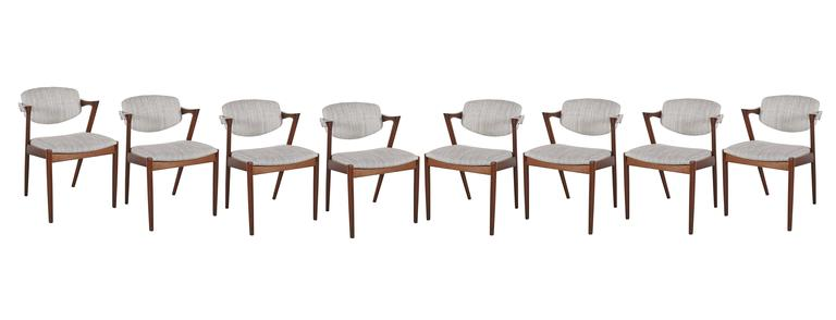 Danish Kai Kristiansen 42 Dining Chair, Set of 3 2