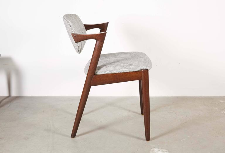 Danish Kai Kristiansen 42 Dining Chair, Set of 3 4