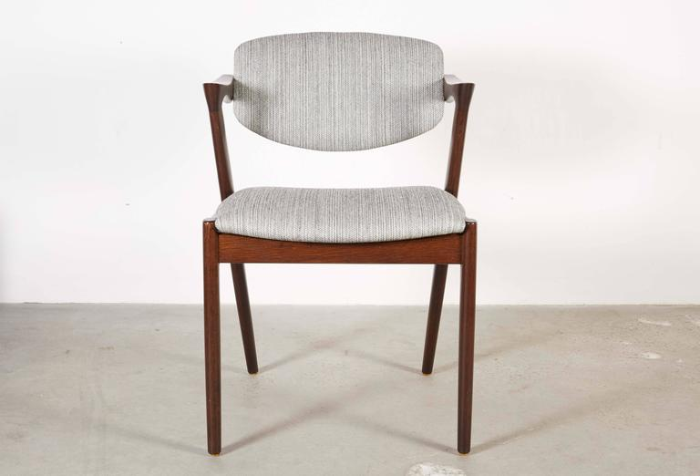 Danish Kai Kristiansen 42 Dining Chair, Set of 3 7