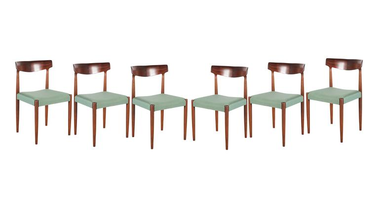 Danish Dining Chairs by Knud Faerch, set of 6 2