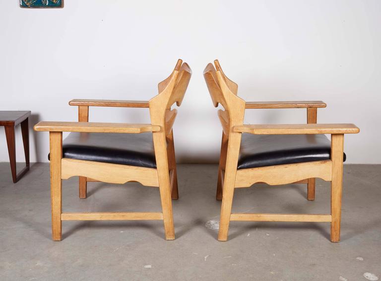 Danish Armchairs by Henning Kjaernulf in Oak 2