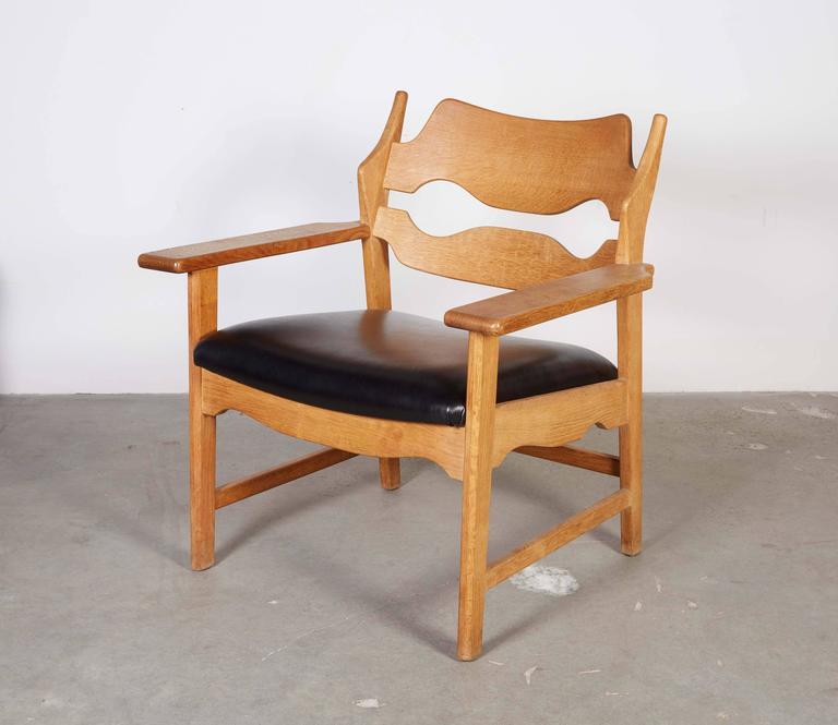 Danish Armchairs by Henning Kjaernulf in Oak 3