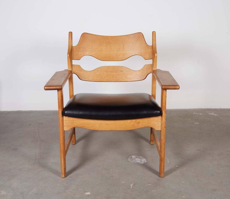 Danish Armchairs by Henning Kjaernulf in Oak 5