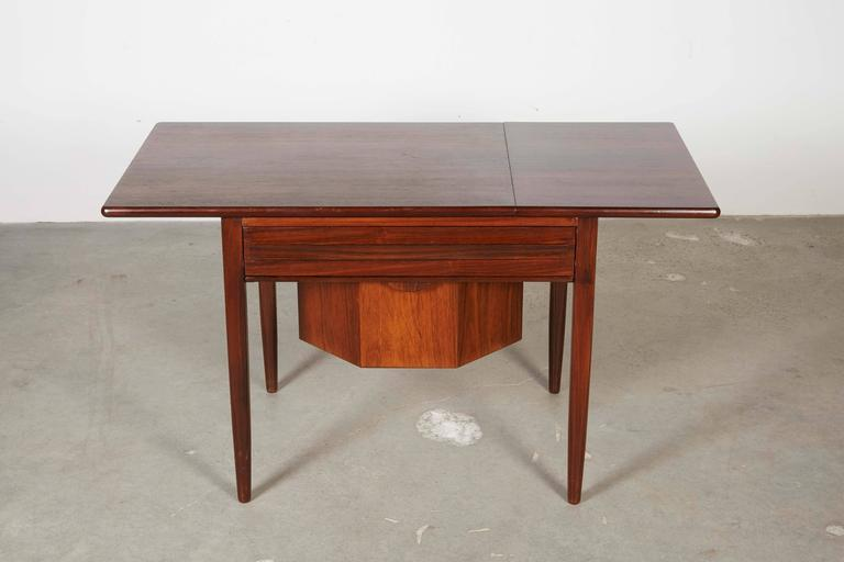 Mid Century Sewing Table with Drop Leaf 3