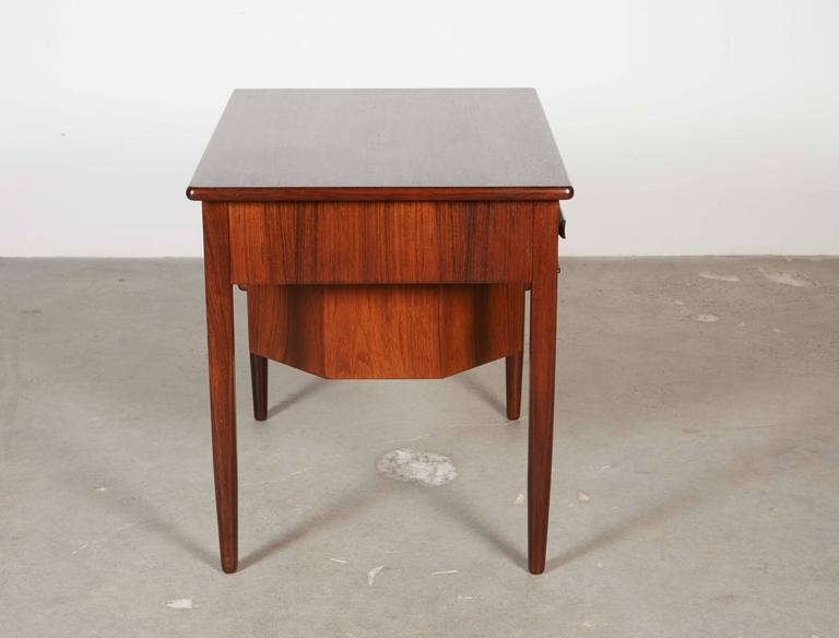 Mid Century Sewing Table with Drop Leaf 7