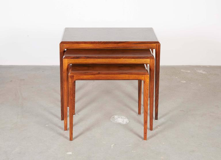 Rosewood Nesting Tables by Johannes Andersen 2
