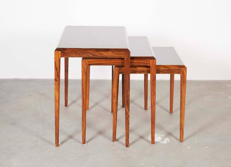 Rosewood Nesting Tables by Johannes Andersen 3