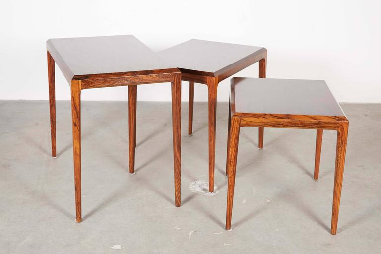 Rosewood Nesting Tables by Johannes Andersen 4
