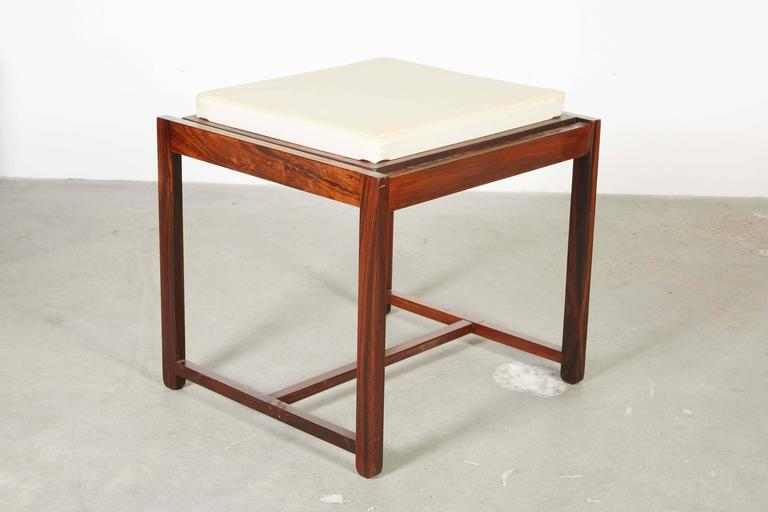 Danish Reversible End Table / Ottoman 2