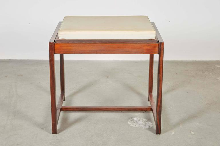 Danish Reversible End Table / Ottoman 3
