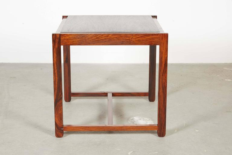 Danish Reversible End Table / Ottoman 6