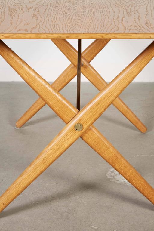 Mid Century Coffee Table by Hans Wegner,  AT308 with Crossed Legs 4