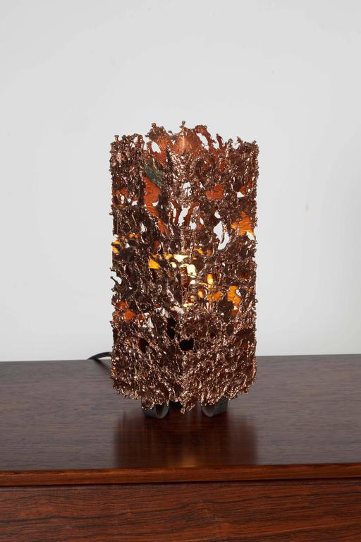 Mid Century Copper Table Lamp 2
