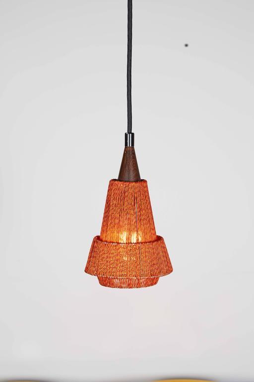 Mid Century Orange Pendant Lamp, 2 Left 2
