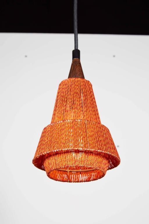 Mid Century Orange Pendant Lamp, 2 Left 3