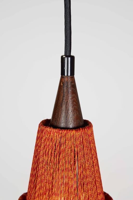 Mid Century Orange Pendant Lamp, 2 Left 4