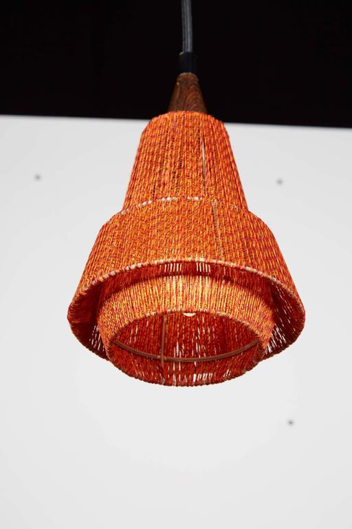 Mid Century Orange Pendant Lamp, 2 Left 5