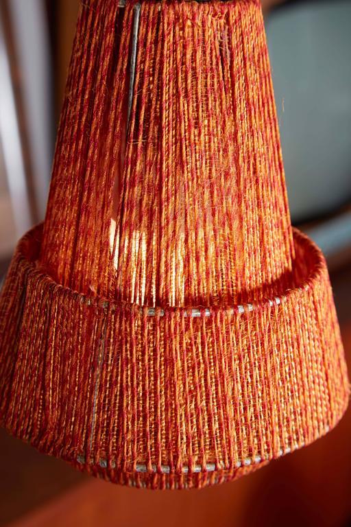 Mid Century Orange Pendant Lamp, 2 Left 6