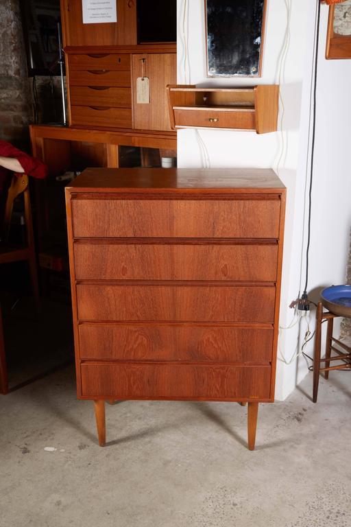 Danish Teak Highboy Dresser 2