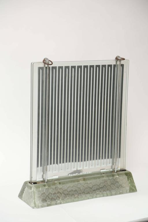 Rare Art Deco Glass Heater by Rene-Andre Coulon for Saint-Gobain, 1937 2