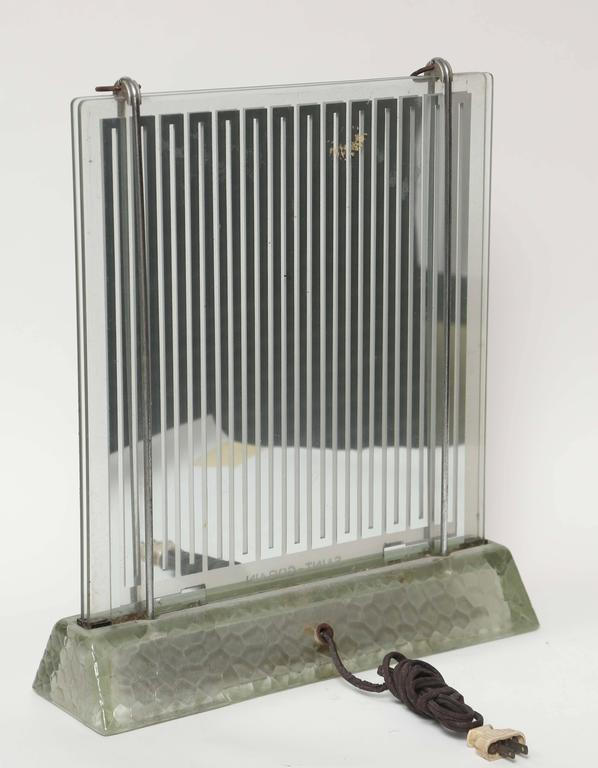 Rare Art Deco Glass Heater by Rene-Andre Coulon for Saint-Gobain, 1937 6